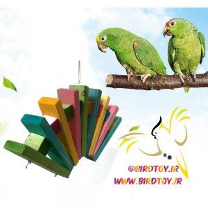 آویز چوبی پرنده